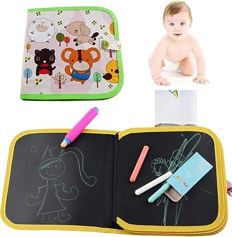 LY-LD Tablero de Dibujo portátil de los niños-Escribir y Aprender Juguete Innovador-Colorido Tiza Libro de Tela-bebé Aprendizaje Educativo temprano Graffiti,B: Amazon.es: Deportes y aire libre