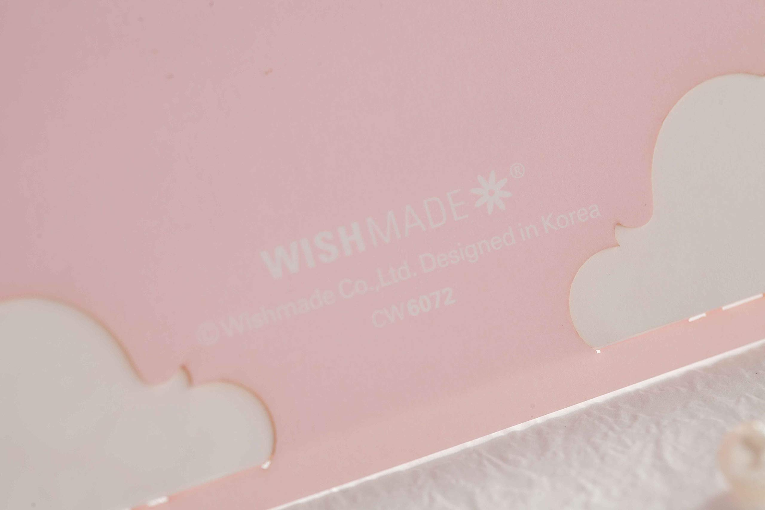 「Princess Dream」WISHMADE 50 Pink Laser Cut Elegant Wedding Invites with Crown Design, Printable Invitations Sleeve with envelopes for Quinceanera Birthday Party Engagement Bridal Baby Shower
