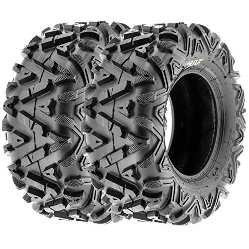 SunF All Trail A/T ATV UTV Tires 25x10-12 25x10x12 6 PR A033 (Set pair of 2) by SunF