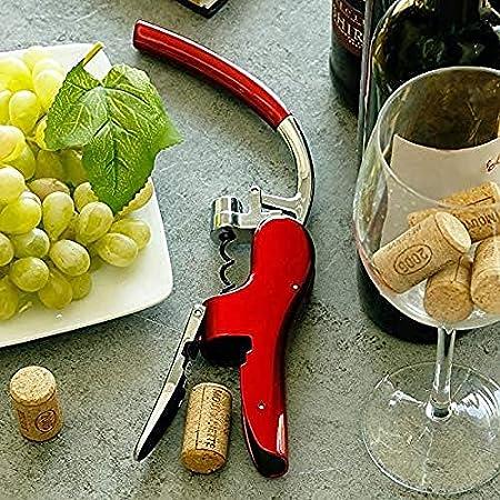 Abrebotellas de vino profesional de aleación de zinc abridor de sacacorchos de aluminio incorporado cortador de aluminio premium sacacorchos para vino
