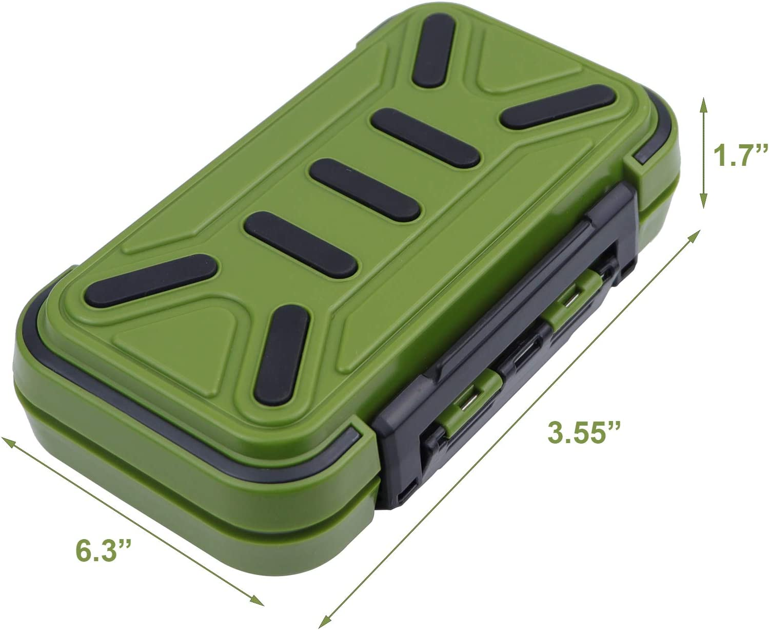 Fishing Lure Tray Waterproof Seal Sun Protection Tackle Storage Box Double-Sided with Removable Dividers LESOVI Fishing Tackle Box