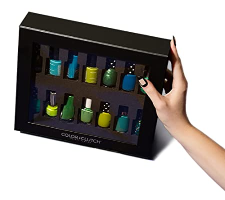 Color Clutch Universal Nail Polish Case Organizer, Holds 14 Bottles, With Foam Cushion Insert to protect...