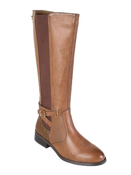 scarpe originali offerta speciale primo sguardo XTI Stivali Marroni con Tacco Basso Donna Giallo Ecopelle: Amazon ...