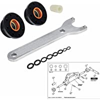 E-cowlboy HS5157 Front Mount Hydraulic Steering Cylinder Seal Kit with Pin Wrench for HC5340, HC5341-HC5348 HC5358…