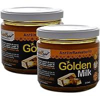 Golden Milk, Leche dorada. Paquete con 2 piezas de 350 mililitros. 100% Natural