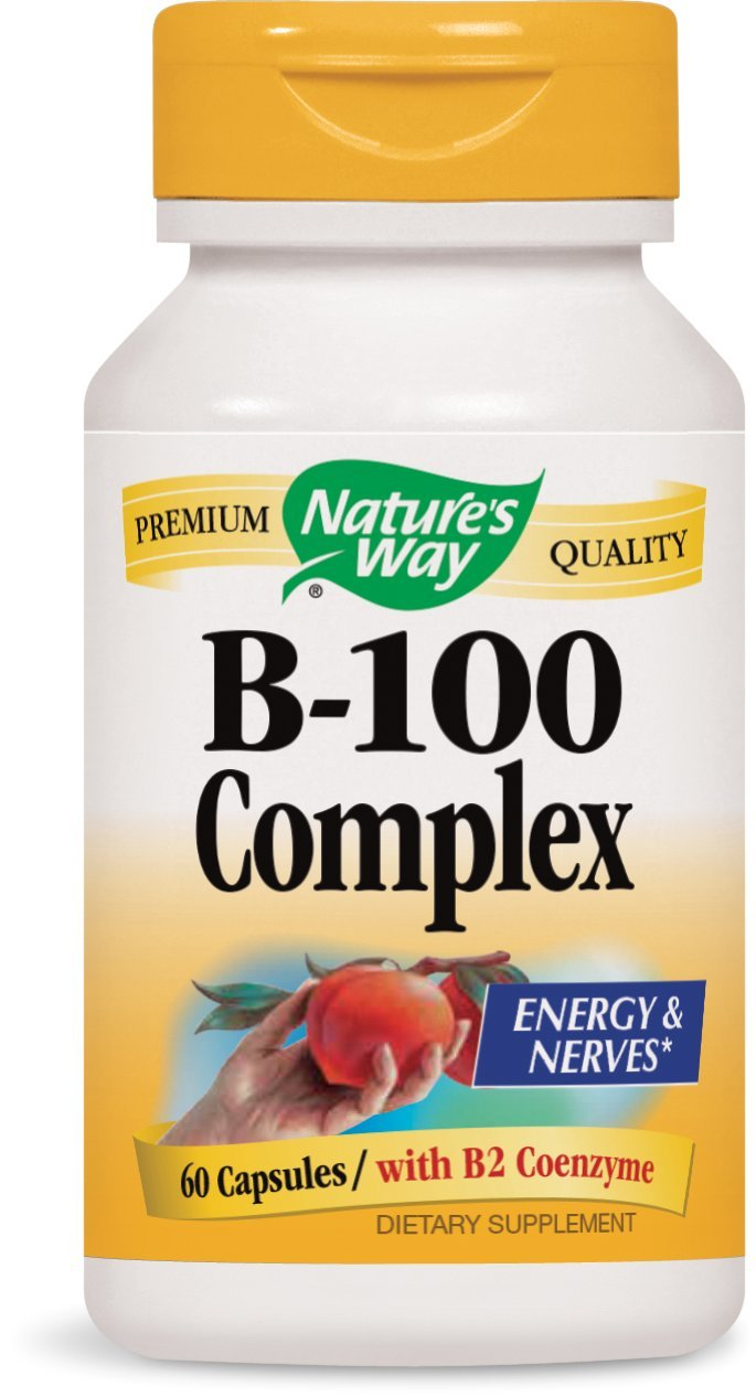 Nature's Way B 100-Complex, 60 Capsules (Pack of 3) by Nature's Way