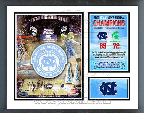 2009 Ncaa Final Four - North Carolina Tar Heels 2009 NCAA Final 4 Champions Milestones & Memories Framed Photo