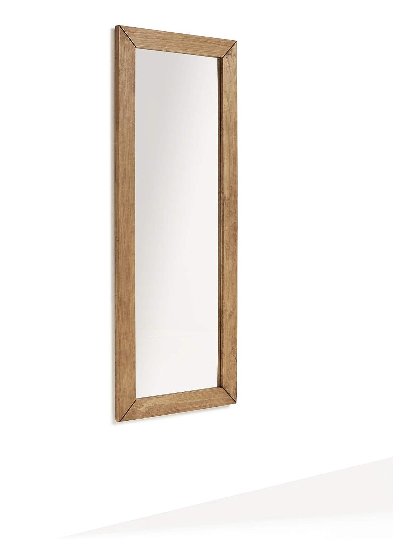 Specchio Rettangolare Corpo Intero Salotto Specchio da Parete in Legno Massiccio Dilbar Sala da Pranzo Ingresso Camera da Letto Dimensioni: 155 x 60 x 3 cm HOGAR24 ES