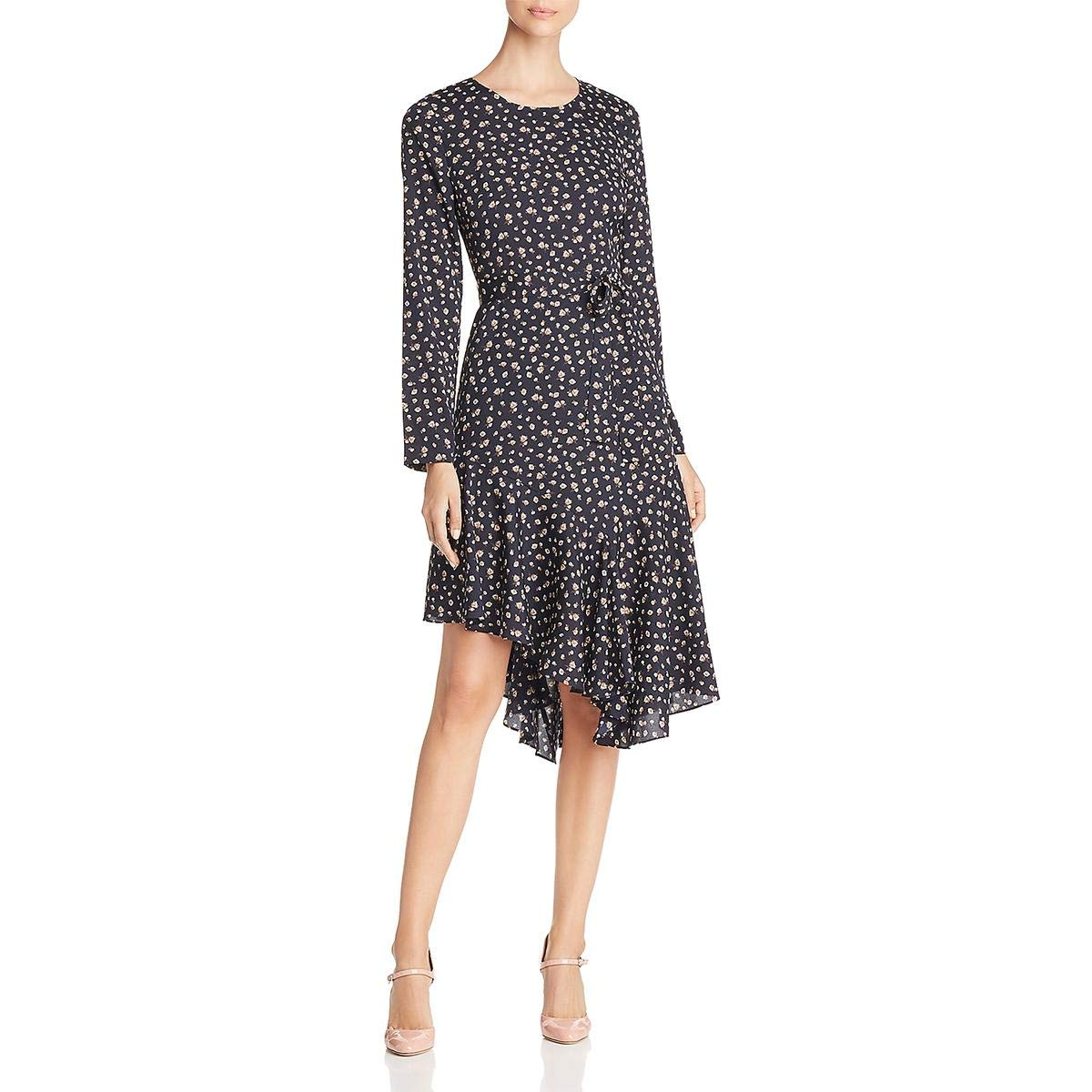 Natural Multi Small Le Gali Womens Mona Floral Print Day to Night Flounce Dress