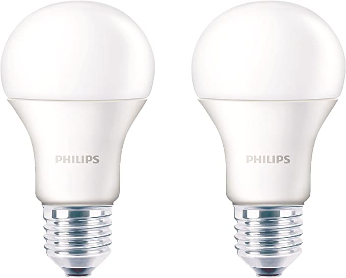 Philips Base E27 12-Watt LED Bulb (Crystal White,Pack of 2) LED Bulbs at amazon