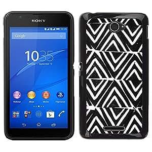 LECELL--Funda protectora / Cubierta / Piel For Sony Xperia E4 -- Modelo Modelo Blanco Negro --