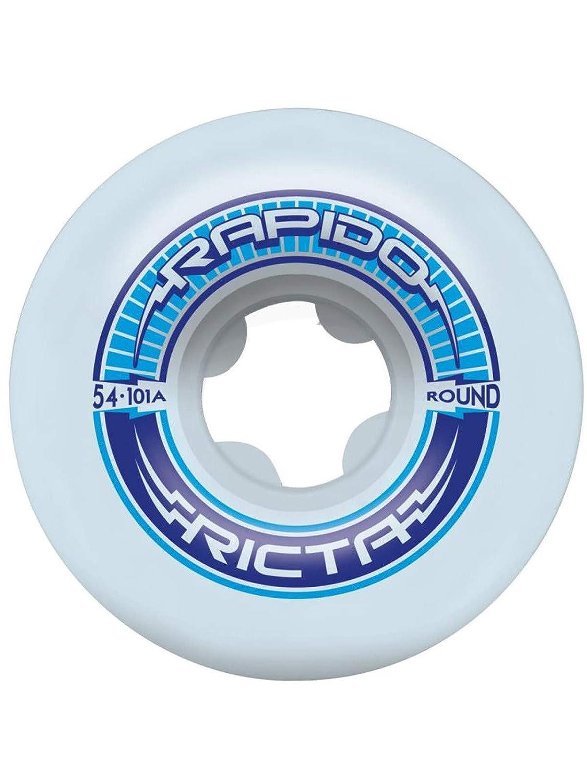 【日本限定モデル】 Ricta White Rapido ラウンド 101A - 54mm ラウンド スケートボードホイール 101A White One Size ブルー B07HQWCXB7, オチアイチョウ:776c04e0 --- mvd.ee