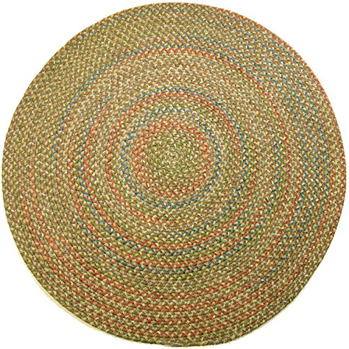 RRI Katherine Multi Round Indoor/Outdoor Braided Rug, 6-Feet, Camel (Round Indoor Outdoor Rugs Sale)