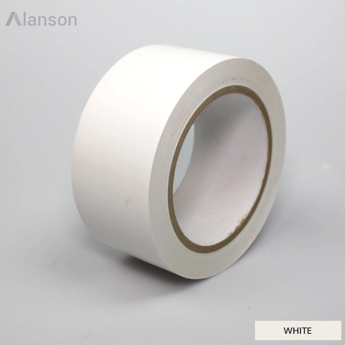 2''(48mm) x 36 yds, White General Purpose Vinyl Tape (65013) [24 Rolls]