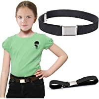 FunPa Cinturón de nailon ajustable con hebilla cuadrada para niños y niñas