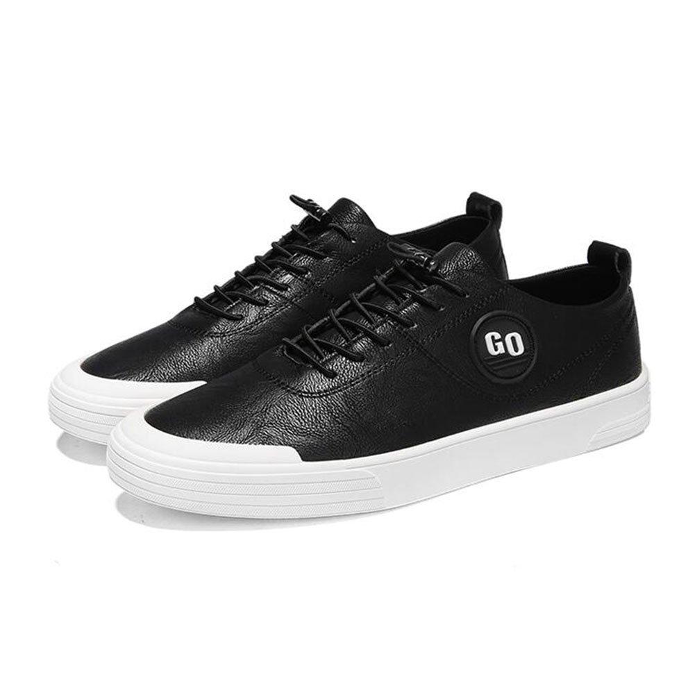 QIDI Zapatos Casuales Hombre Caucho Transpirable De Moda Antideslizante Zapatos Individuales (Color : Negro, Tamaño : EU43/UK9) EU43/UK9|Negro