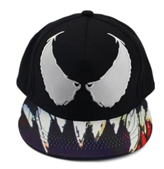 Image Unavailable. Image not available for. Color  Marvel s Venom W  Teeth  Adjustable Snapback Cap Hat 41d0e0a44137
