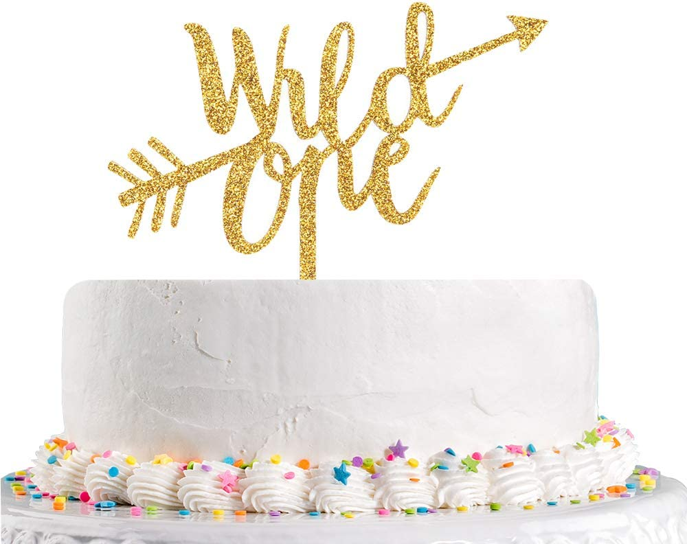 Tremendous Amazon Com Glitter Wild One Cake Topper Baby First Birthday Cake Personalised Birthday Cards Cominlily Jamesorg