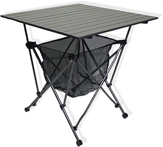 WPCBAA Mesa plegable de aluminio portátil Flodable Mesa de picnic ...