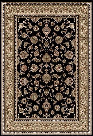Well Woven Barclay Sarouk Black Traditional Area Rug 2'3