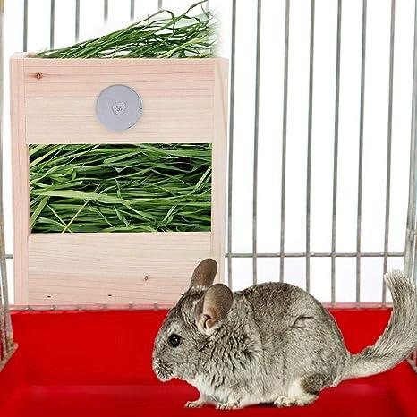 HEEPDD Comedero para Conejos, Marco de Hierba para Mascotas Anti ...