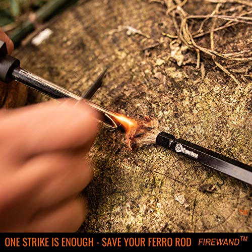 The Atomic Bear Fire Starter Survival Tool - Hemp Wick - Works for Campfire - Hiking Gear Camping Gear Fire Starter Kit - Works with Flint or Survival Lighter - with 3 Tinder Wick 13