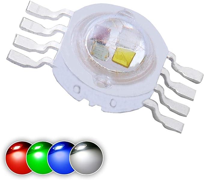 5w HIGH POWER LED Chip STAR SCHEDA ROSSO 630nm 640nm//800ma 5 Watt HI POWER