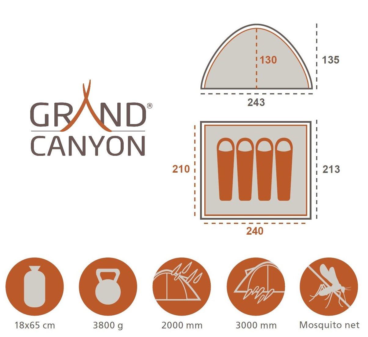 3 Personen f/ür Trekking Festival in verschiedenen farben Grand Canyon Phoenix M Outdoor Camping Kuppel-// Igluzelt