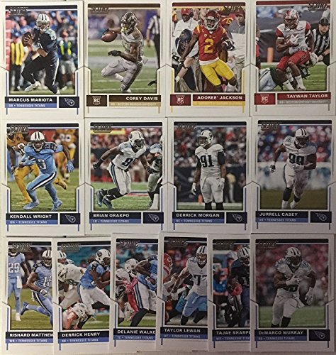 2015, 2016 & 2017 Panini Score Football Tennessee Titans 3 Team Set Lot Gift Pack 43 Cards W/Rookies Tennessee Titans Set