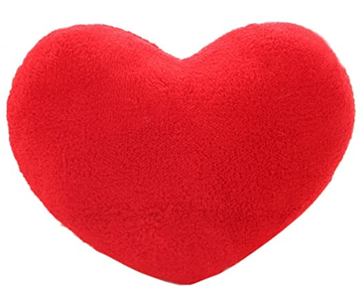 Kenmont Romántico Corazón Forma Almohada Tirar Almohadas Amortiguadores Traseros Juguete de Felpa Suave Regalo Casa Decoración (Rojo)