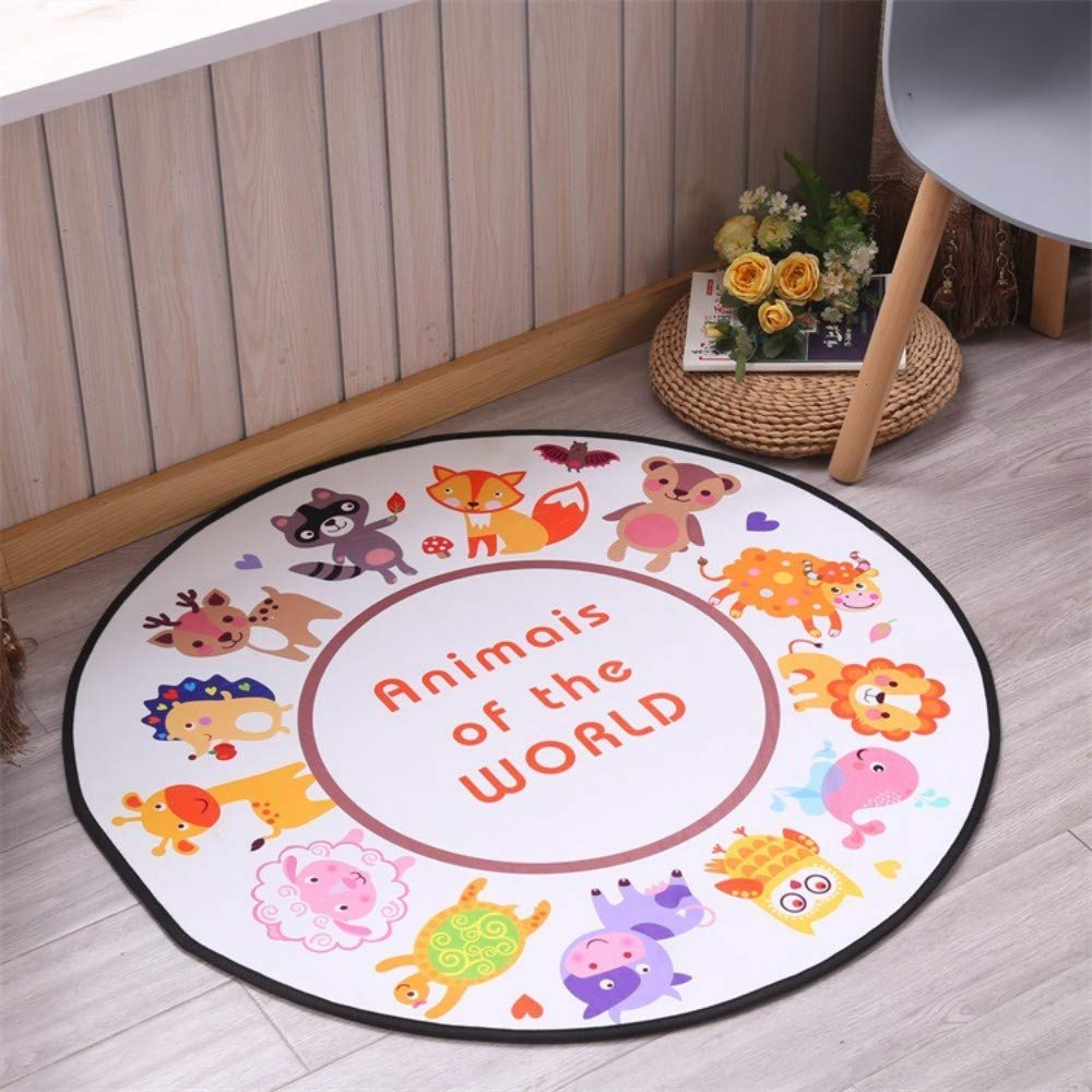 160 cm jx-home round rug for printing and dyeing   hanging basket   non-slip   kids   cartoon   living room   mat LOGO pet mat   160cm