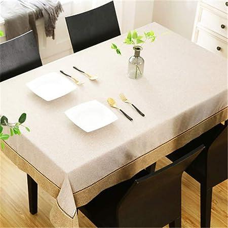TWTIQ Mantel De Color Sólido Mantel Rectangular De Lino De Algodón Mantel De Vacaciones Mantel Blanco 140X240Cm / 55X94In: Amazon.es: Hogar