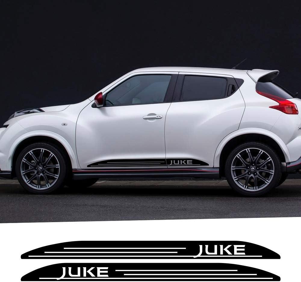 Jiers Per Nissan Juke Gonna Laterale Per Porta Auto Adesivi Per Strisce In Vinile Auto Decalcomanie Per Decorazioni Su Entrambi I Lati Adesivi Per Auto Da Corsa Parti Per Auto Ac Auto