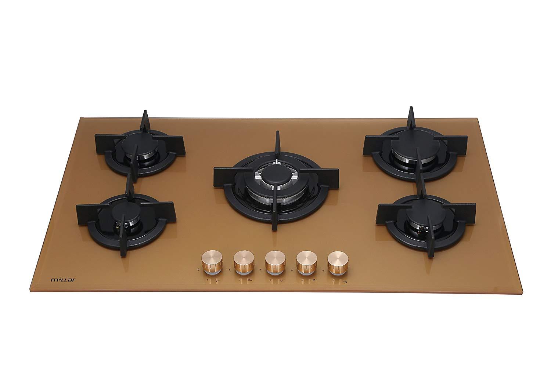 Millar gh9051pg placas de horno de cristal templado con 5 ...