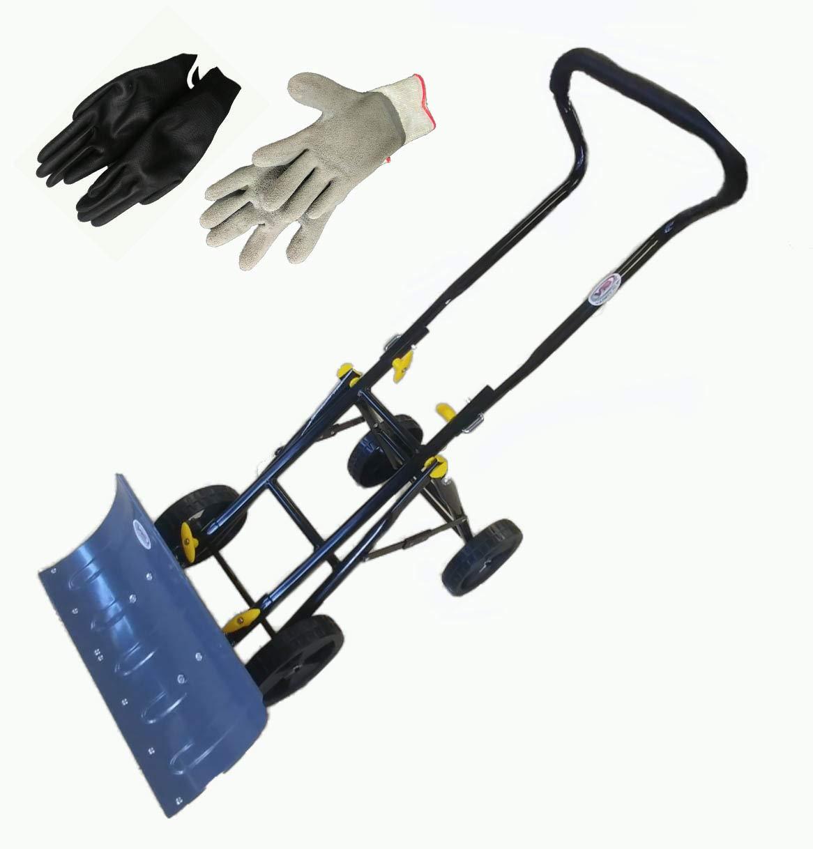 Variety To Go Pala para nieve - variedad to go Ajustable con ruedas - Pala para nieve, Heavy Duty Rolling Plow palas de nieve con 6