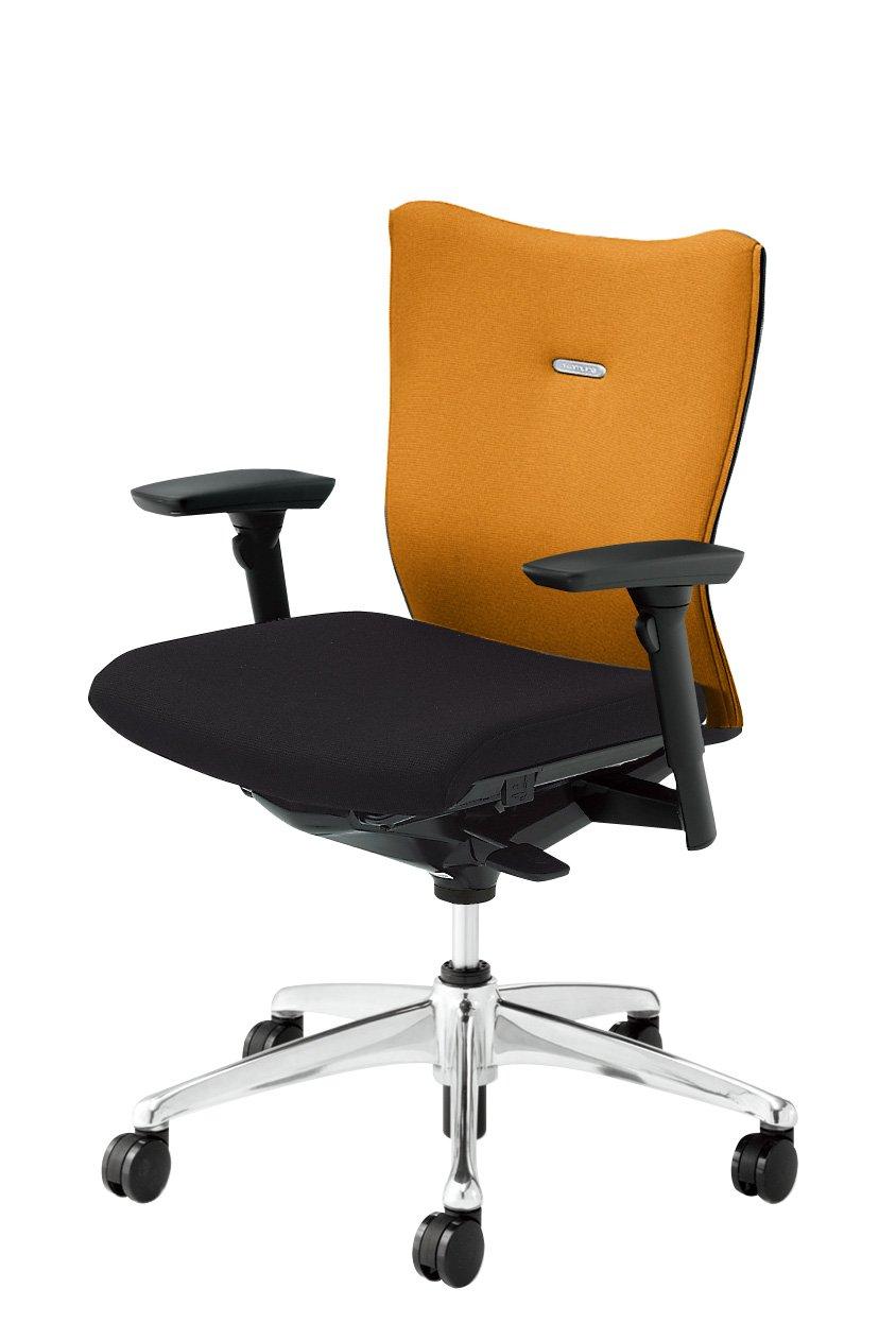オカムラ フィーゴ デスクチェア オフィスチェア ミドルバック 可動肘 サイドファスナータイプ CJ93ZR-FAR8 オレンジ B00318F2BU オレンジ オレンジ