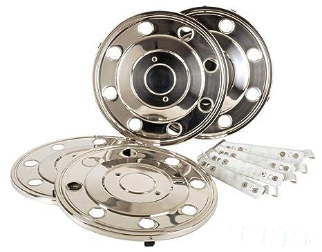 Hansen Styling Parts Juego de tapacubos 15 Acero Inoxidable único Neumáticos (2001 – 2006