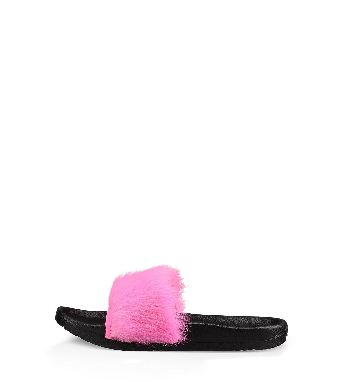 bef75f0a3f7 UGG Australia Women's Royale Slide Sandal, Neon Pink, 6 M US: Amazon ...