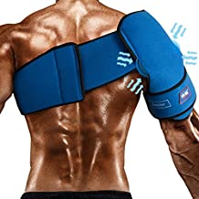 Compression Gel Wrap For SHOULDER Pain Relief. Reusable Cyro Cold Therapy Is Colder Than Ice For Long Lasting Pain Relief From Spasms, Swelling And Sore Muscles. Consistent Temperature For Hours.