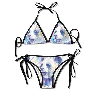 Acuarela Zoo Panda Smile Bikini Sexy para Mujer Set Traje de ...