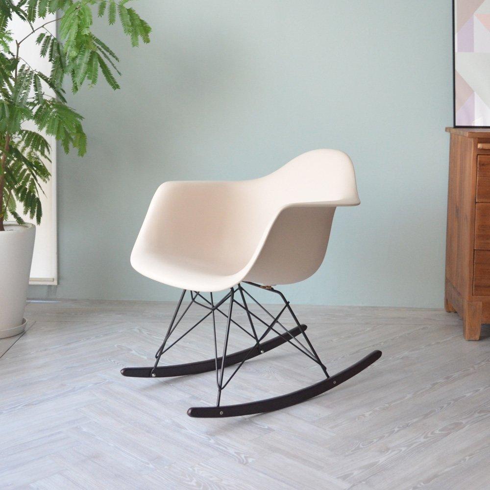 【アースベージュ】 RAR ウォールナット色 <ブラックベース> イームズ シェルアームチェア / Eames Shell Arm Chair PP樹脂 ロッキング B01MXLUDW6