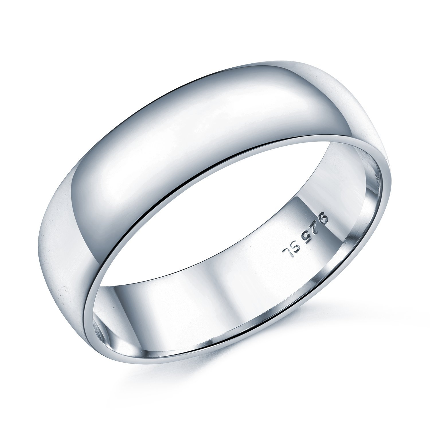 6mm D-Shape Heavy Weight Sterling Silver Wedding Band Ring In Sizes  Complete With Gift Box  Amazon.co.uk  Jewellery 15cc6408eb7c