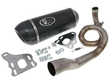 Escape - m4t103 de H2 de Turbo Kit Gmax Carbon H2 4T para Vespa GTS, LX, Lxv 125, 150 4T: Amazon.es: Coche y moto
