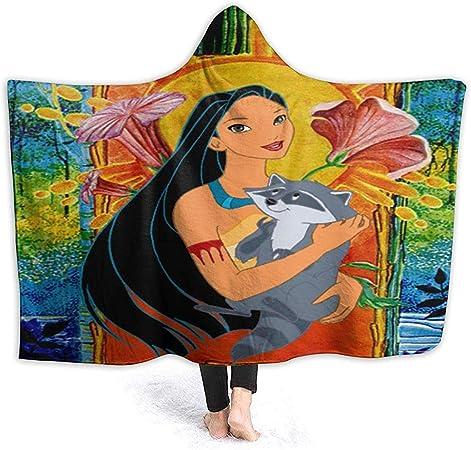 Not applicable Couverture /à Capuche Anime Pocahontas et Meeko Couvertures Sherpa Fleece Wearable Cuddle Couvertures /à Capuche Douces et Chaudes pour Adultes Hommes Femmes 60 x 50 Pouces