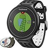 Garmin Approach S6 Golf GPS Sports Watch, Black, Comes with a Custom Ball Marker Hat Clip Set (American Eagle)