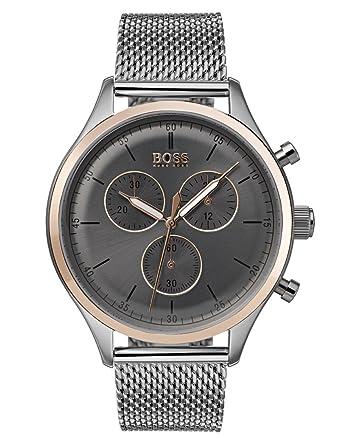 77d8feaf475c Hugo BOSS Reloj Cronógrafo para Hombre de Cuarzo con Correa en Acero  Inoxidable 1513549  Amazon.es  Relojes