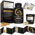 Organic Turmeric Curcumin Capsules 1460 mg  Best Pain Relief & Joint Support Black Pepper Organic Turmeric Supplement Pills with Curcuminoids & Ginger Powder Bundle  120 Anti-inflammatory Tablets