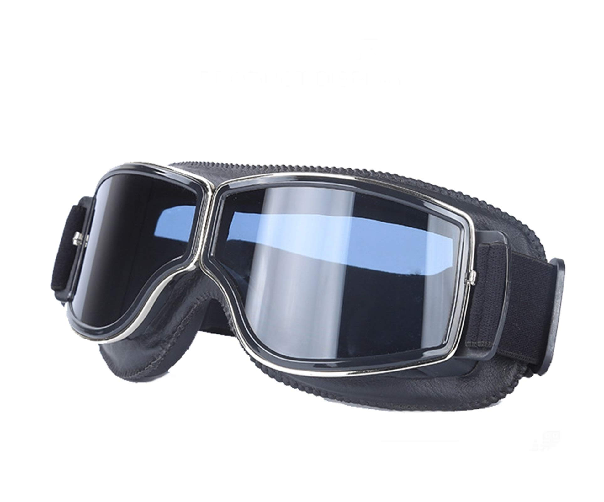 Adisaer Polarized Cycling Glasses Locomotive Retro Helmet mask Goggles Off-Road Cycling Goggles Black Gray for Adults