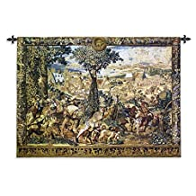 "Fine Art Tapestries ""Hunting Parties of Archduke Maximilian Wool and Cotton"" Wall Tapestry, Large"
