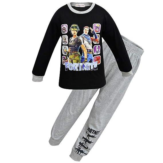 Dgfstm - Pijama Dos Piezas - para niño Multicolor Negro (140 cm ...